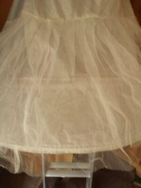 Hooped wedding dress petticoats