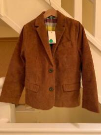 Boden boys corduroy jacket 7-8yrs BRAND NEW