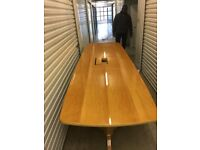 Solid pine table 14ft excellent condition direct from an investment bank