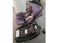 Cosatto car seat and isofix