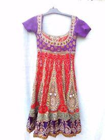 Anarkali dress,heavy stonework ,velvet & zari embroidery,ANY OFFERS Welcome