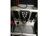 Coffee machine and grinder and draw
