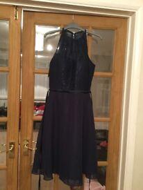 Navy blue bridesmaid dress, size 8-10, never worn