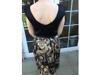 Black and taupe dress size 12
