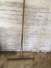 large wooden rake