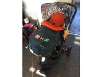 Cossatto Pram/Buggie with car seat