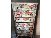 For Sale - Handpainted Wooden Chest of Drawers
