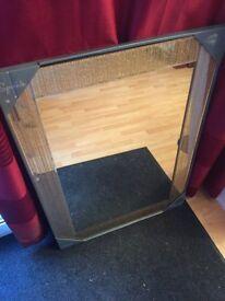 Gold glitter mirror 65x90cm