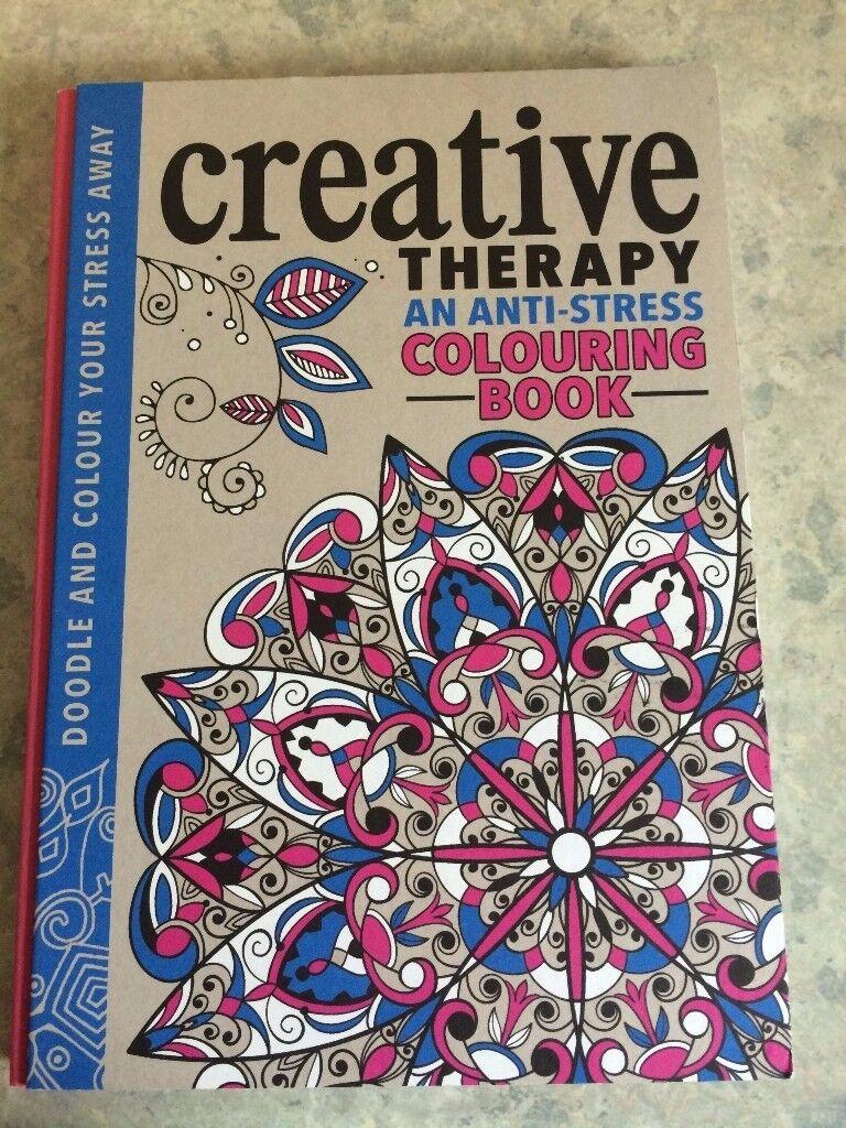 Creative anti stress colouring book - Creative Therapy Anti Stress Colouring Book