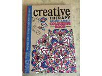 Creative therapy anti-stress colouring book
