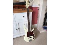Peavey Milestone Bass Guitar, Ivory