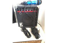 Kustom KLA10 amplifier speaker with cables