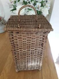 Bathroom wicker storage basket