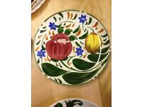 Wade china plate hand painted vintage in lovely condition. Beautifully bright colours