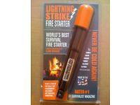 BNIB Darrell Holland Lightning Strike Fire Starter Kit Standard Black Ops + Tinder NEW