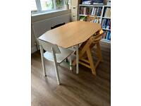 Ikea PS drop-leaf table