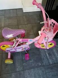 Childs 12 Inch peppa girl bike