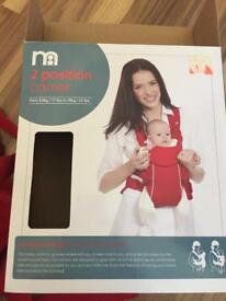 Mothercare 2 position carrier for baby