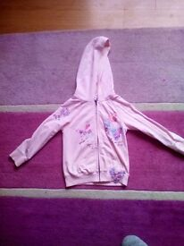 Girls next pink butterfly Cardie