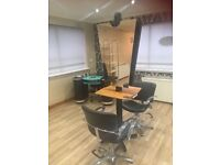 Salon furniture & equipment excellent condition £1000.00 or can sell separately.
