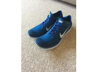 Nike Free RN Flyknit Blue UK 9