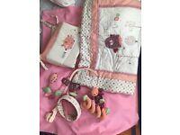 Lollipop Lane Prickles and Twoo Cot Bedding Bundle / Mobile / Tie Backs / Spriral Toy
