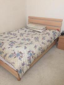 Beech bed frame