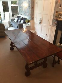 Dining table and matching bench for sale