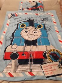 Thomas the tank engine cotbed duvet cover and pillow case.