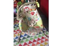 Fisher Price calming vibrations Happy Forest Friends baby bouncer
