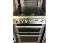 HOTPOINT ULTIMA FULLY GAS COOKER LATEST MODEL DOUBLE OVEN WITH GRILL FREE DELIVERY AND WARRANTY