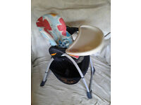Chicco Fully Adjustable High Chair / Feeding Seat - Also selling matching baby bouncer