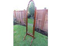 Antique Edwardian free-standing Cheval Mirror
