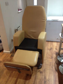 Orthopaedic Armchair with adjustable back and footrest (PICK UP ONLY)