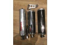 3 x Honda Fireblade end cans.