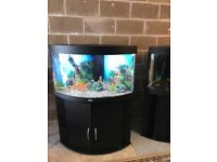 190l Juwel corner fish tank full set up with stand light filter heater pump lid gravel ornament more