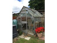 GREENHOUSE 6ft x 8.5ft good condition buyer to dismantle