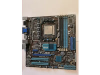 AMD Phenom II X4 955 processor+ Asus M4A78LT-M Socket AM3 PC Motherboard+8GB RAM