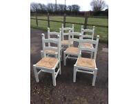 Six Pine Chairs