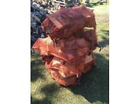 SOFTWOOD, Fire Logs: £3 per X-Large 13Kg net (split weight): net size 80cm x 50cm