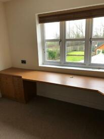 Oak Fitted Office Furniture