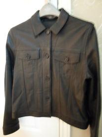'Black' Leather Jacket, 'Marks & Spencer'