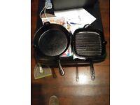 CAST IRON PANS.