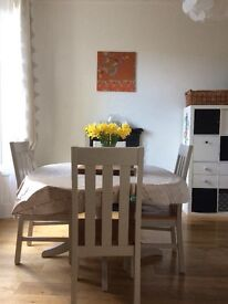 Elegant dining table and chairs ( extendable table)
