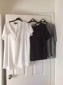 3 ladies tops size 16
