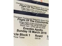 2 x flight of the concords tickets Hammersmith Apollo 18th march