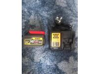 Dewalt DCB546 6Ah battery and charger