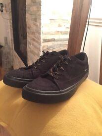 H&M men's black vans style trainers (SIZE 9)