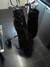 for sale golf bags trolley and clubs