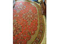 HUGE Oval Axminster Carpet/Rug 12ft x 9 ft or 3.6m x 2.7 m